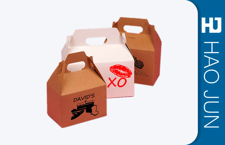 Custom Printing Cardboard Food Boxes , Brown Food Boxes For Food