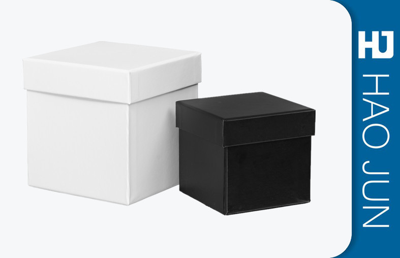 Black And White Color Recyclable Square Gift Cardboard Candle Boxes